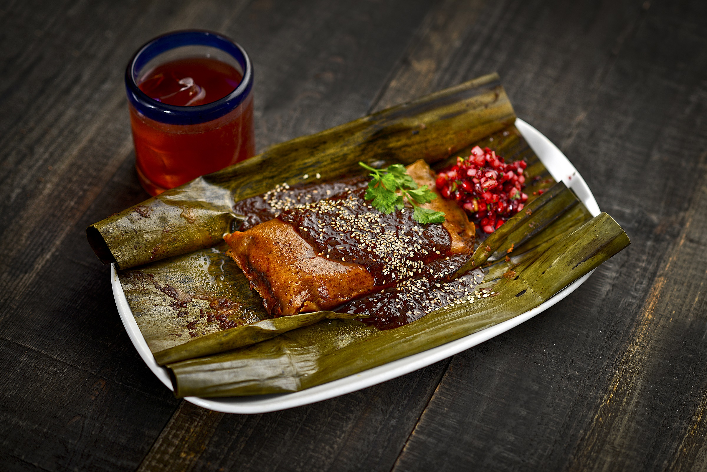 Cabo Wabo's turkey tamale, photo by Peter Harasty