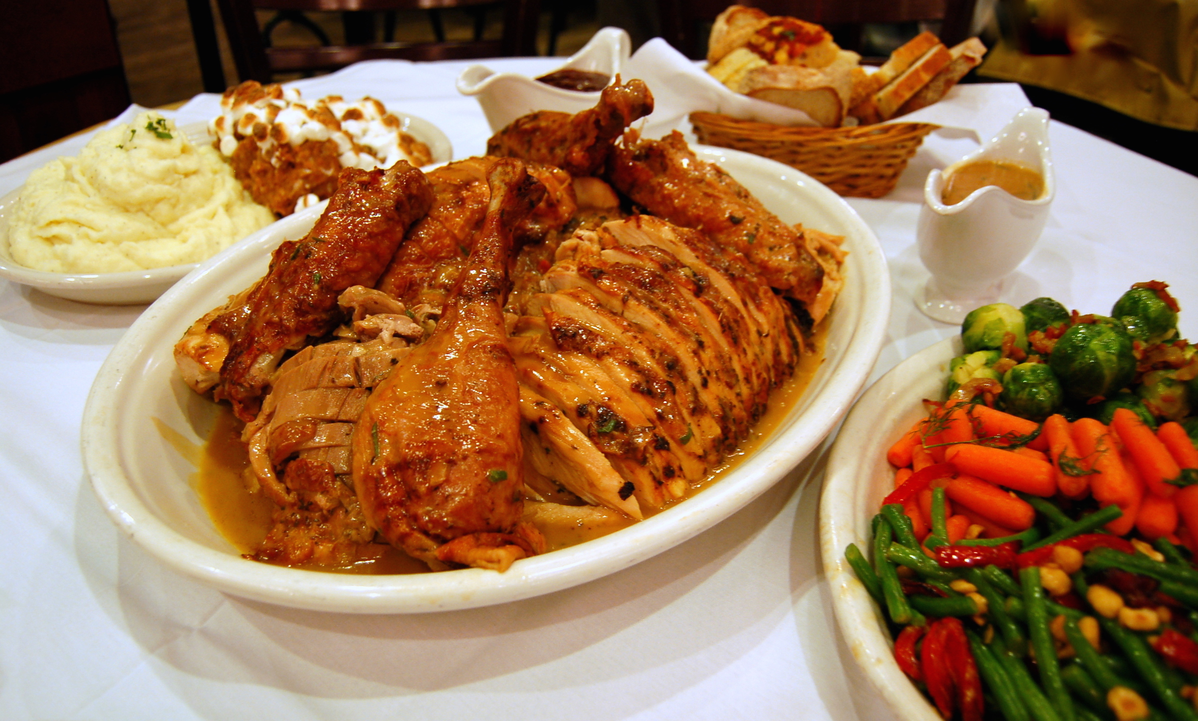 Grab an entire Thanksgiving meal for your family at Carmine's. Photo courtesy of Carmine's