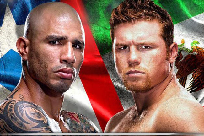 Miguel Cotto takes on Canelo Alvarez at Mandalay Bay, photo courtesy of bleacherreport.com