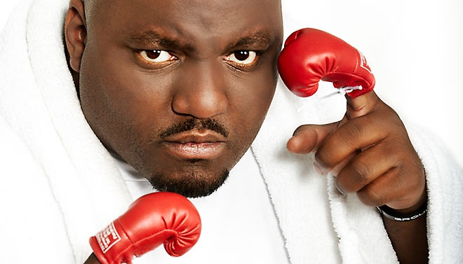 Aries Spears, seen here having just defeated a baby at boxing. T.K.O. in the 12th round. Photo courtesy of Aries Spears.