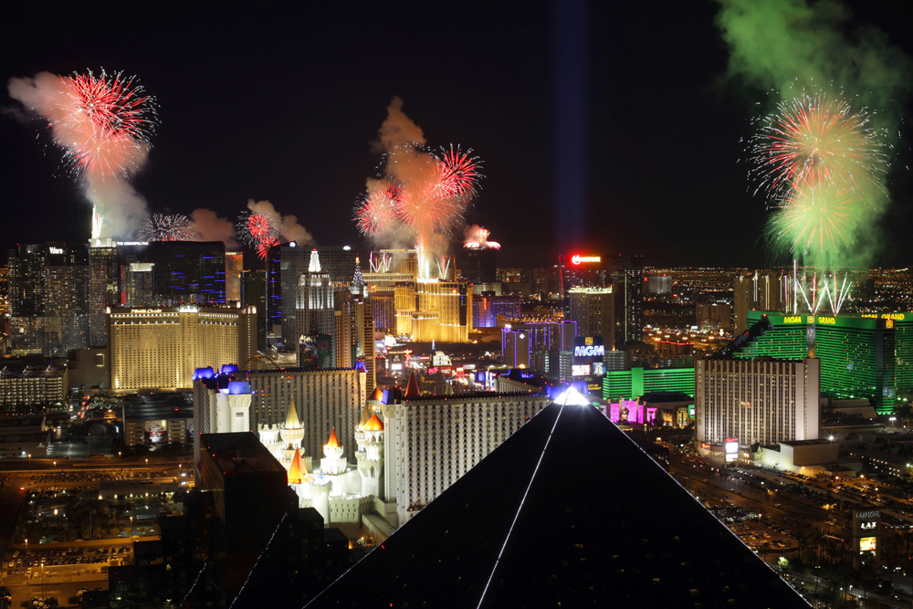 Just a beautiful short o Las Vegas Vegas and fireworks. Phot courtesy of Steve Marcus.