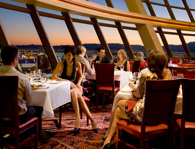 Enjoy a holiday dinner and a great view at Top of the World, photo courtesy of Stratosphere.
