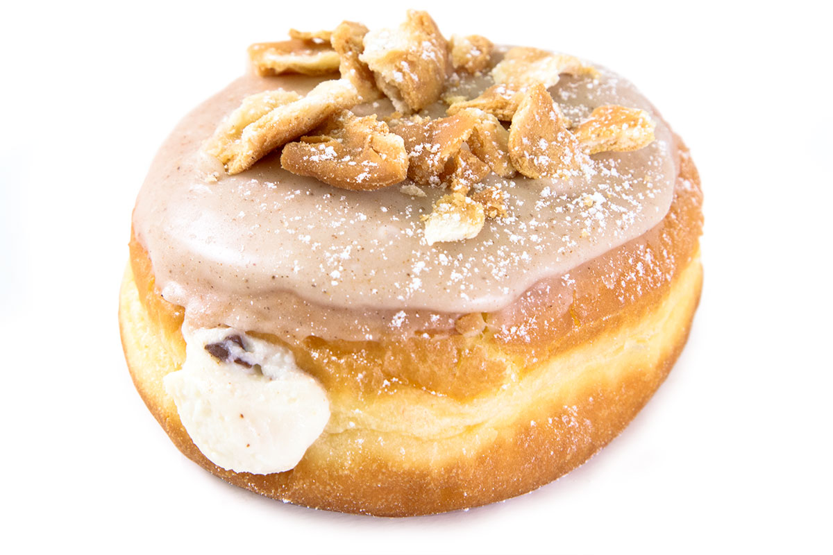The breakfast donut cannoli, photo courtesy of Carlo's Bakery.