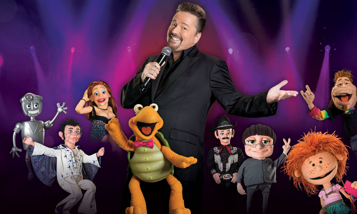 "Terry Fator and his cast of characters put on ""A Very Terry Christmas"" at The Mirage, photo courtesy of Terry Fator"