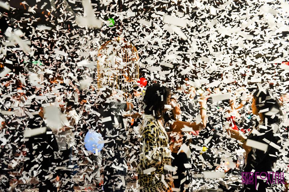 So much confetti. We hope they recycled that. Photo courtesy of Foxtail.