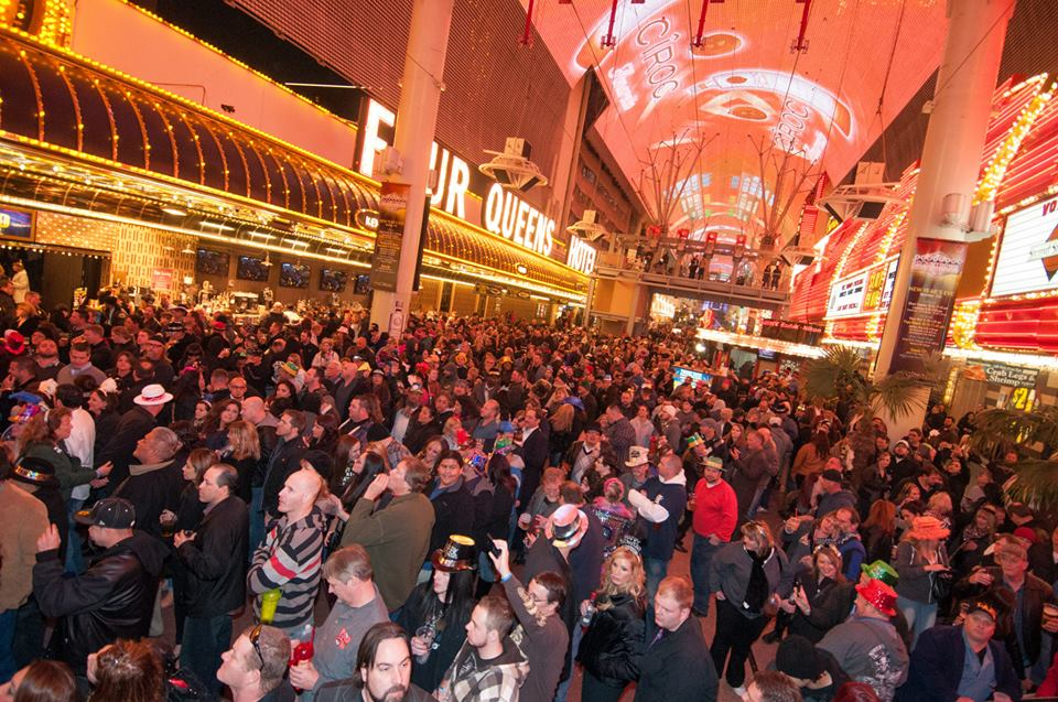 This is the kind of crowding we're talking about. Photo courtesy of Fremont Street Experience.