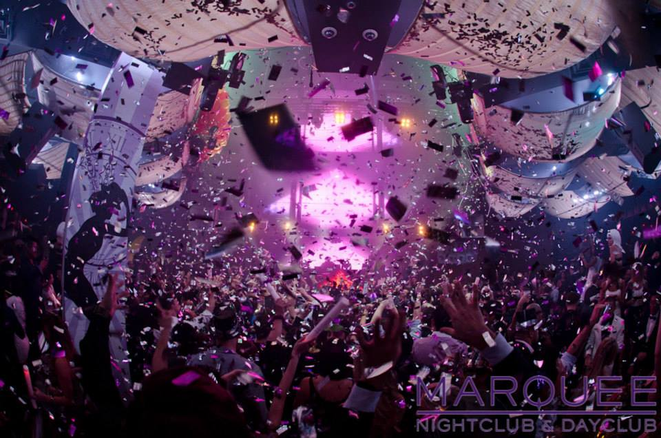 Chuckie at Marquee NYE 2014. Look at all that confetti. Photo courtesy of Marquee.