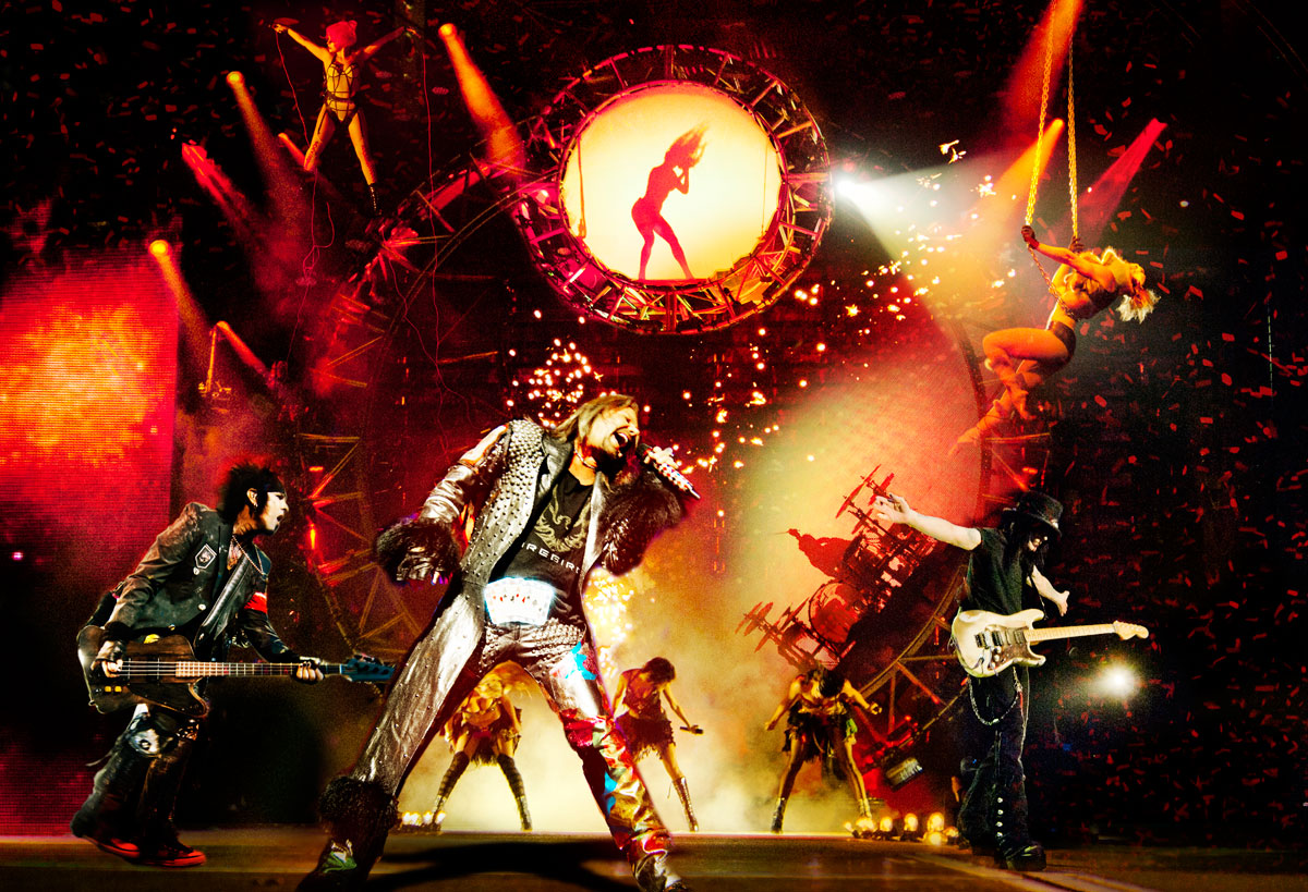 Mötley Crüe rocks Vegas one last time, photo courtesy Vegas.com.