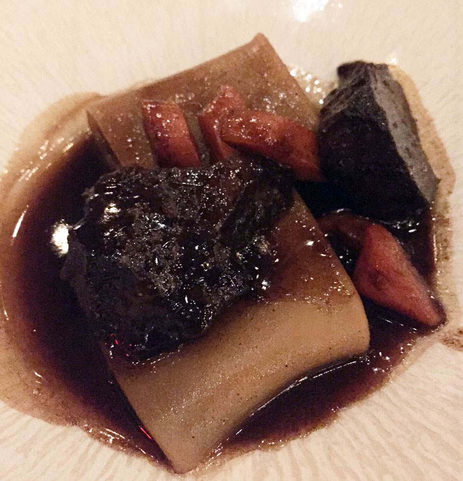 Paccheri pasta with ox cheek and daube-style sauce, photo by Kristine McKenzie
