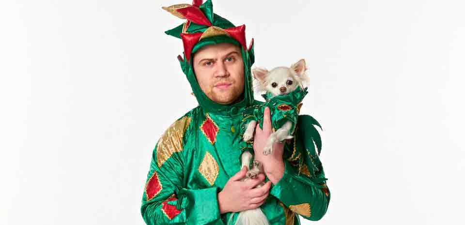"Piff the Magic Dragon spreads holiday cheer with ""Piff's Piffmas Piff-Tacular."" Photo courtesy of Piff the Magic Dragon"