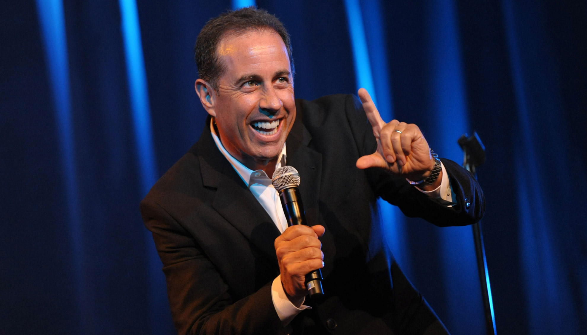 Comedian Jerry Seinfeld brings the laughs to Caesars Palace this weekend, photo courtesy Vegas.com.
