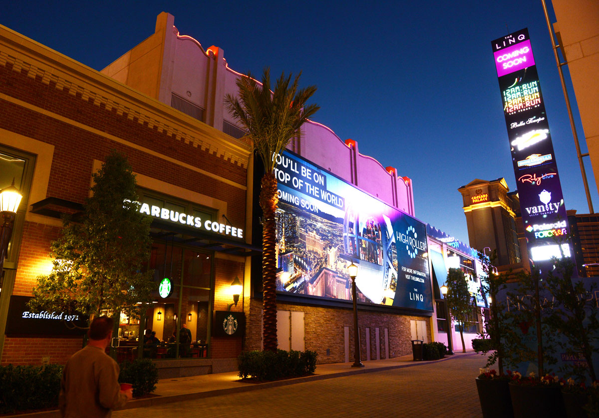 The beautiful LINQ Promenade will come alive with entertainment and expression.
