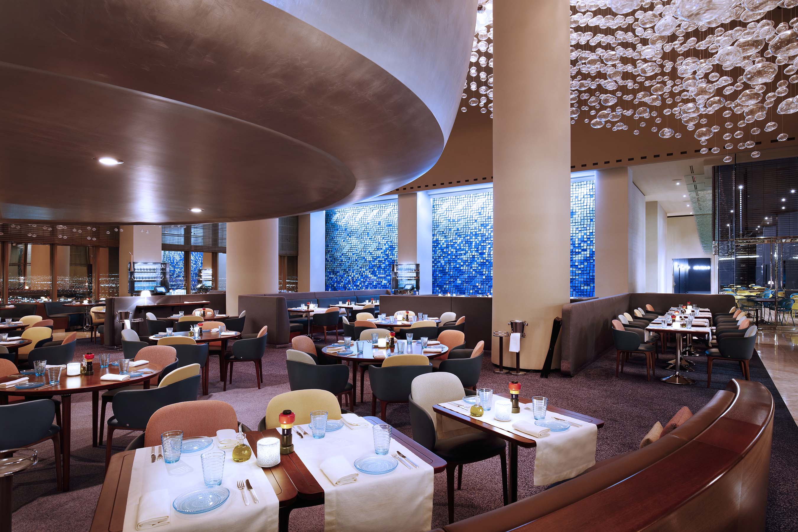 The dining room at Rivea, photo courtesy of The Delano Las Vegas.