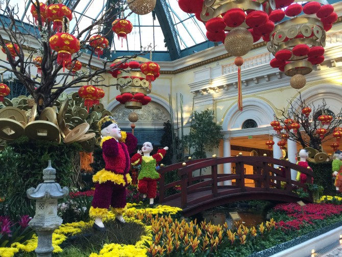 The Bellagio and Palazzo ring in Chinese New Year | Las ...