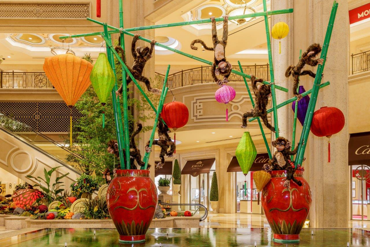 Chinese New Year 2016 in The Waterfall Atrium of The Palazzo Las Vegas. Photo courtesy of the Palazzo.