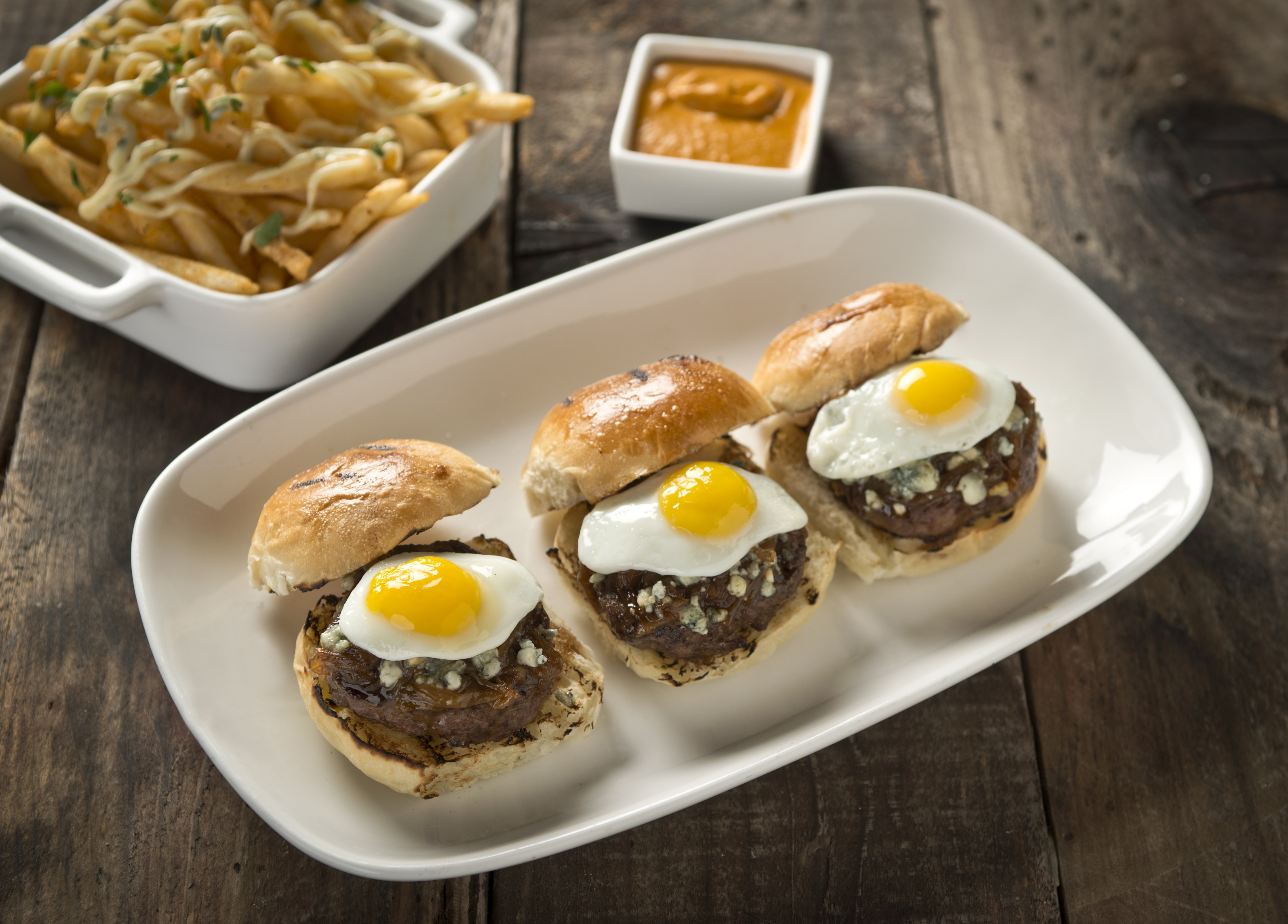 Angus mini burgers, photo courtesy of CRUSH.