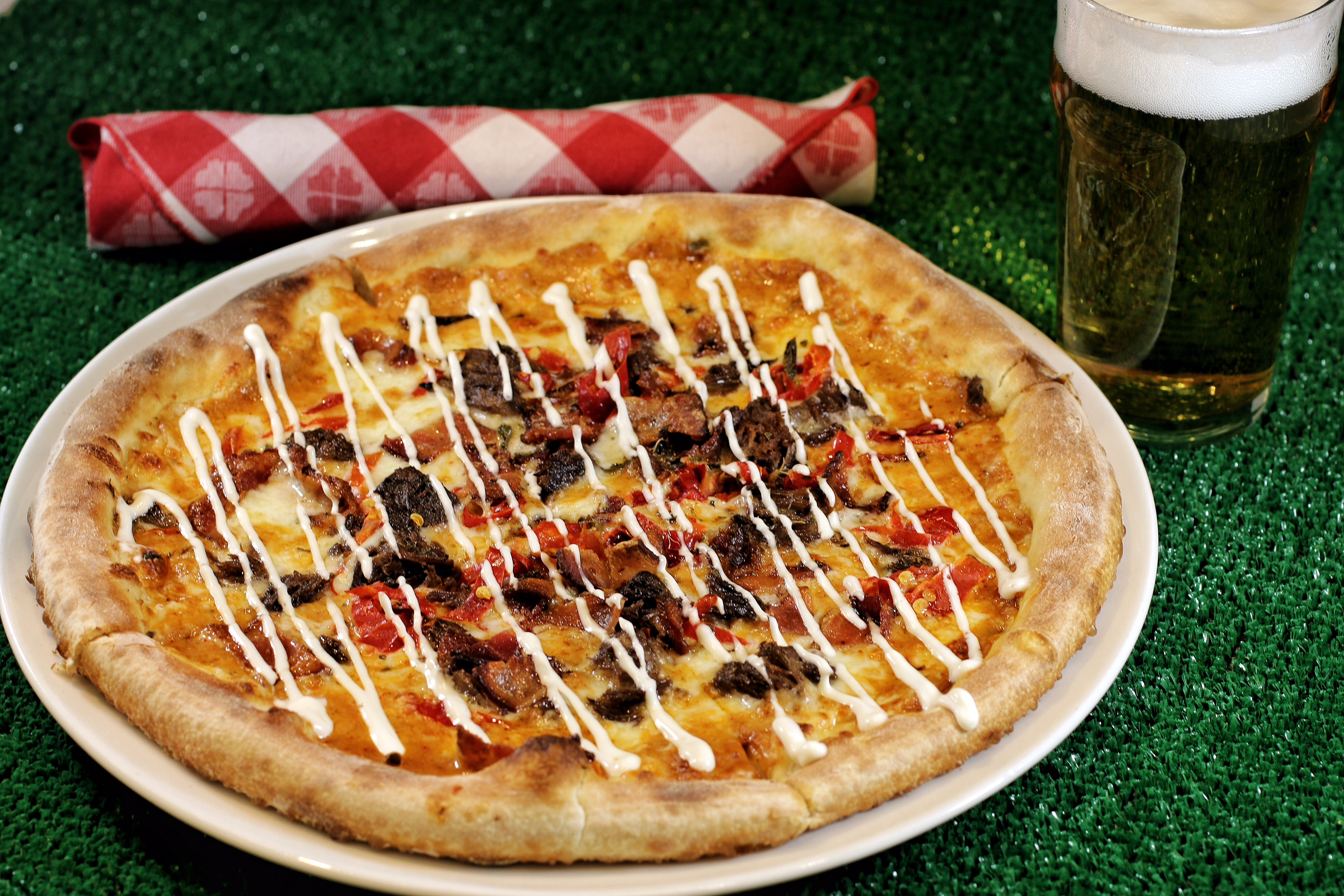 The Carolina Smokehouse Pizza, photo courtesy of Flour & Barley.