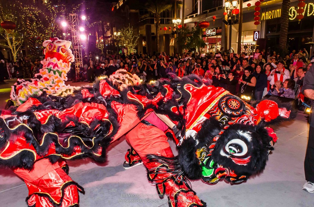 Lion Dance at the LINQ Promenade 2015. Photo courtesy of Chinese New Year in the Desert.