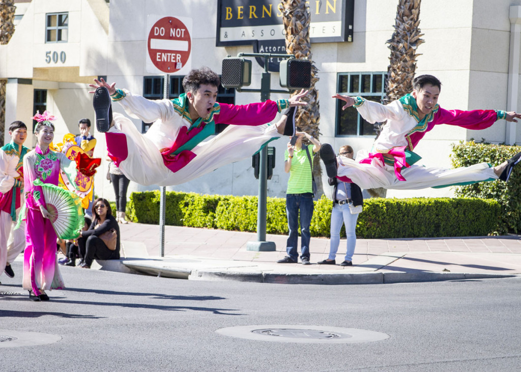 Performers at the 2015 Las Vegas Spring Festival Parade. Photo courtesy of Chinese New Year in the Desert.