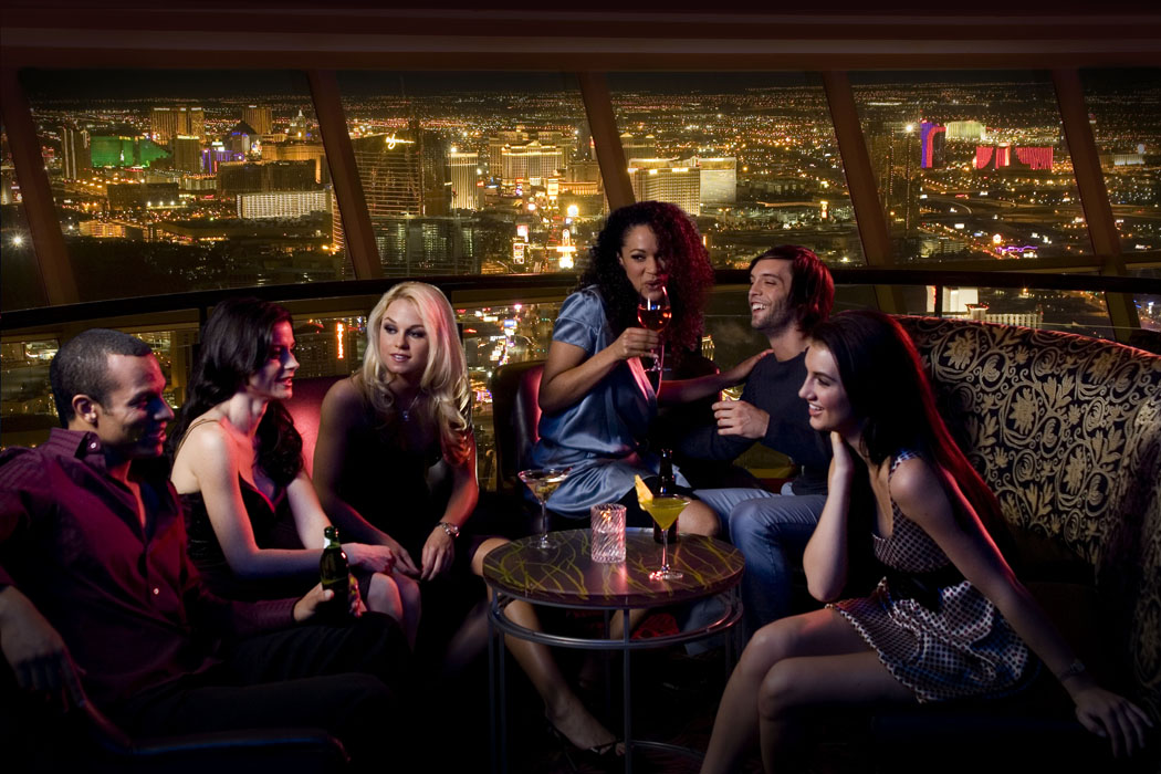 This could be you, enjoying your drinks and totally ignoring the view. Photo courtesy of Stratosphere.