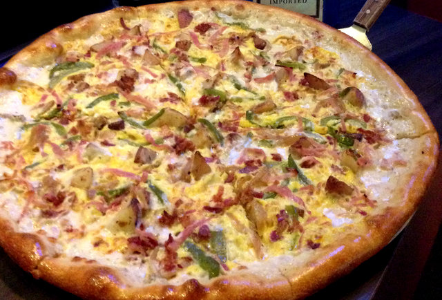 The Hangover Pizza, photo courtesy of Slice of Vegas.