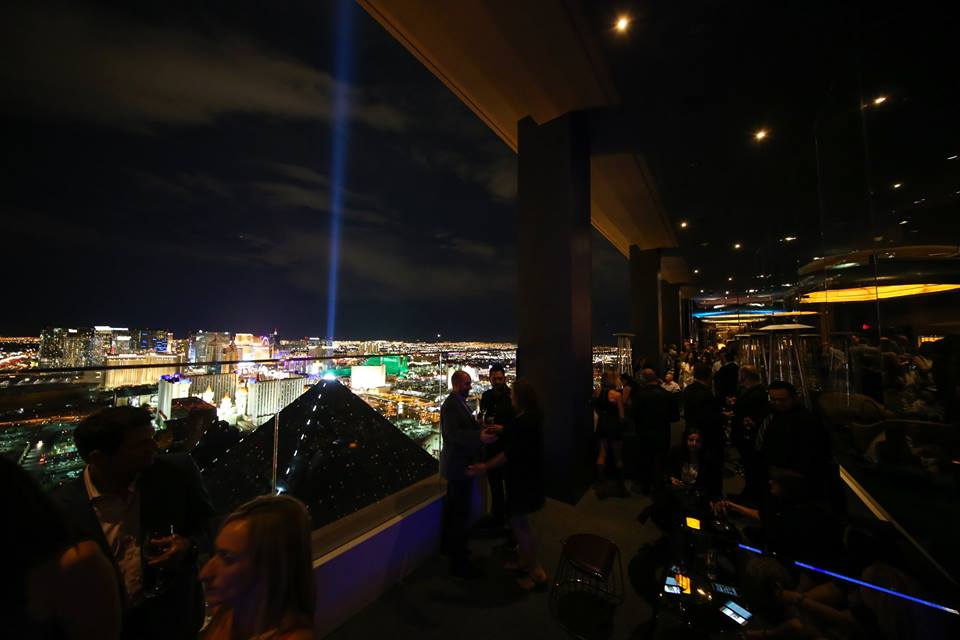This is nightlife in Vegas the way it was meant to be seen. Photo courtesy of Skyfall Lounge.