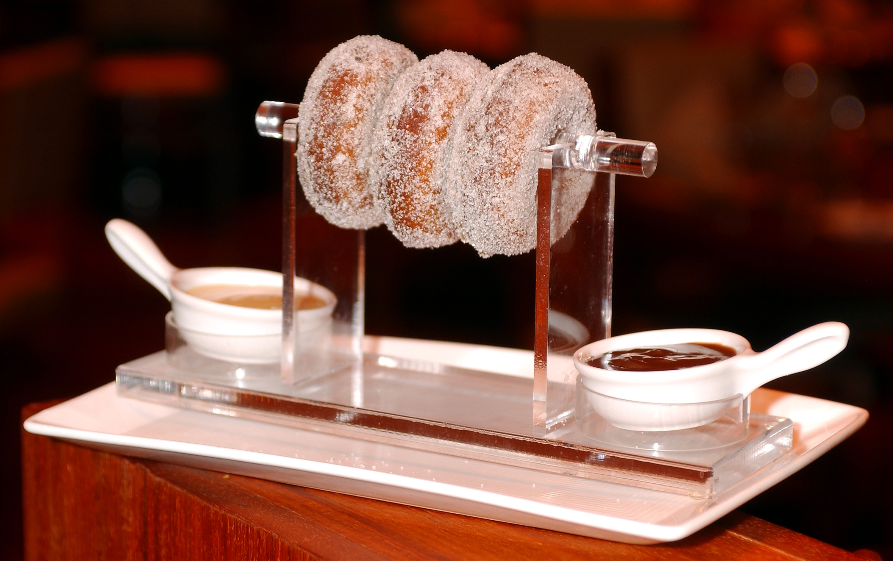The dessert donuts at Fix, photo courtesy of Bellagio. By Denise Truscello.