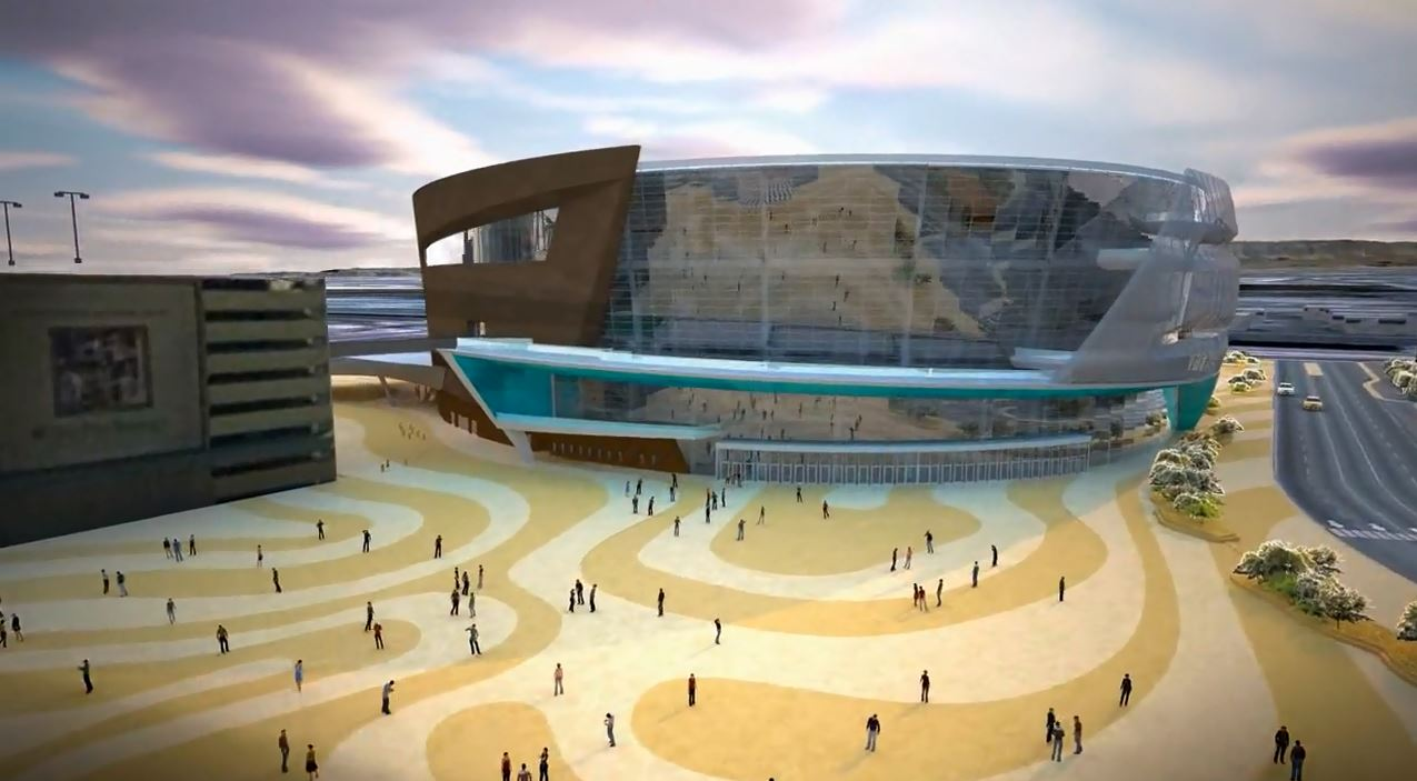 Rendering image of the front of the T-Mobile Arena