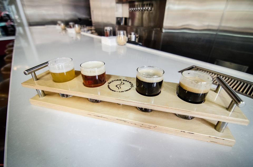 Get a flight while on your crawl. Because those two things go together. Photo courtesy of Banger Brewing.