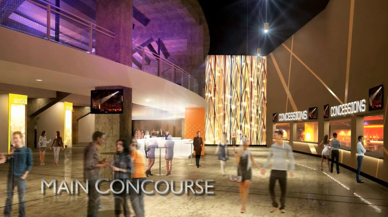 Rendering image of the arena's main concourse