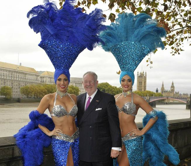 If you're looking for a showgirl, just look for former Las Vegas Mayor Oscar Goodman. Photo credit: Las Vegas Sun