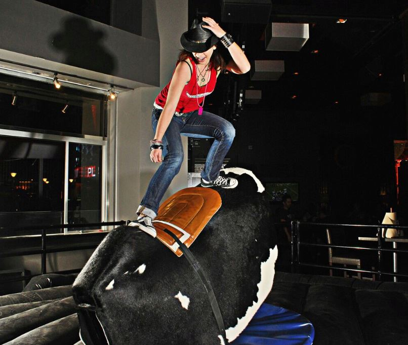 This could be you, making your ex all jealous of that bull. Photo courtesy of PBR Rock Bar.