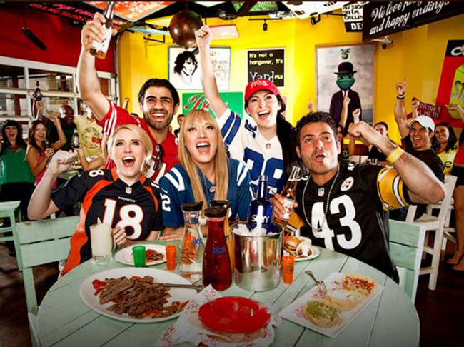 Be sure to bring your random, unspecific football jersey in whatever color you like. Photo courtesy of Senor Frog's.