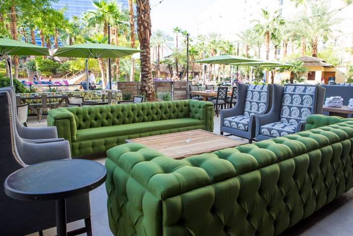 The comfortable patio at Culinary Dropout, photo by Erik Kabik, courtesy of Hard Rock Hotel.