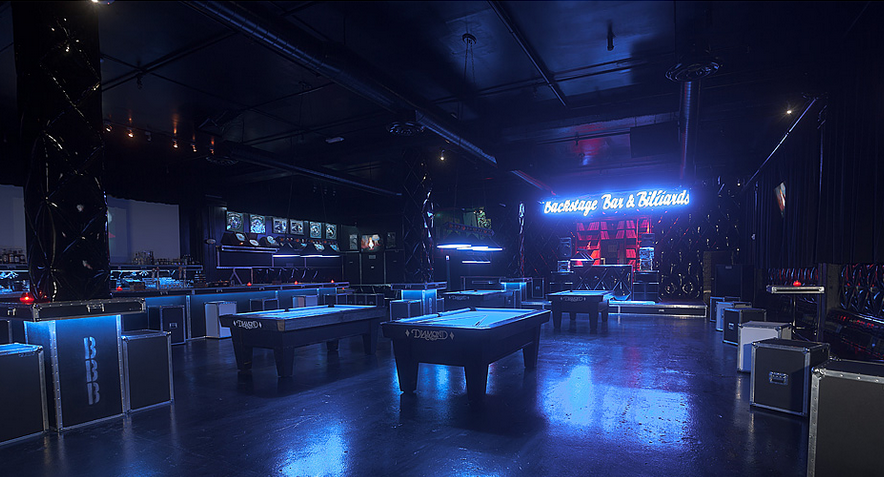 This is what it looks like when you've out-drinkied everyone else in the bar. Photo courtesy of Backstage Bar and Billiards.