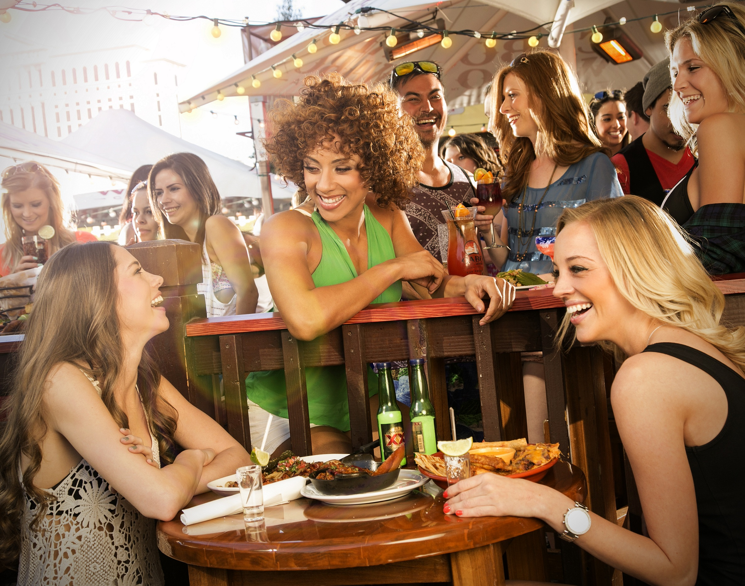 There's always a party on the patio at Cabo Wabo, photo courtesy of Cabo Wabo Cantina.