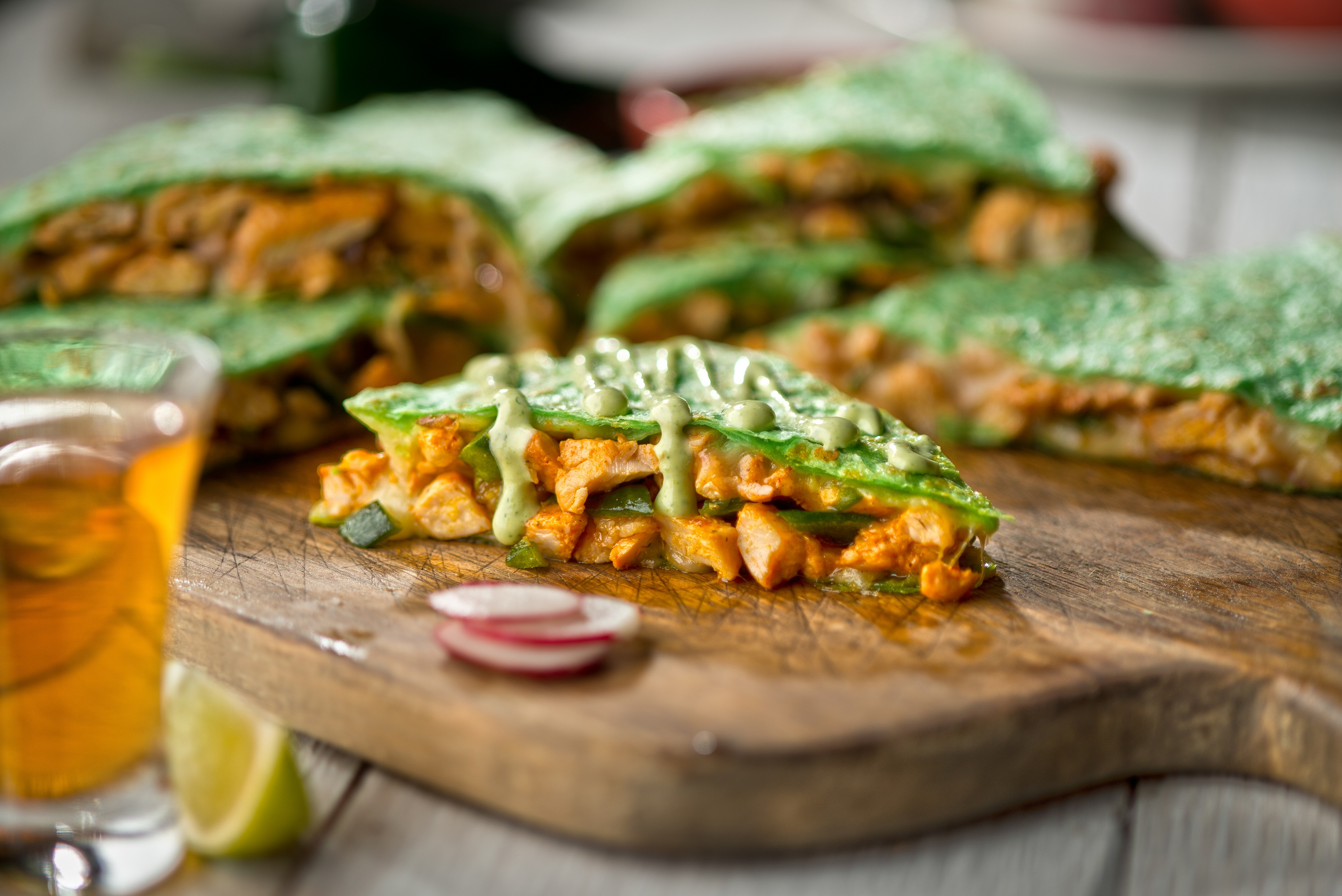 Mean Green Quesadilla, photo by Peter Harasty.