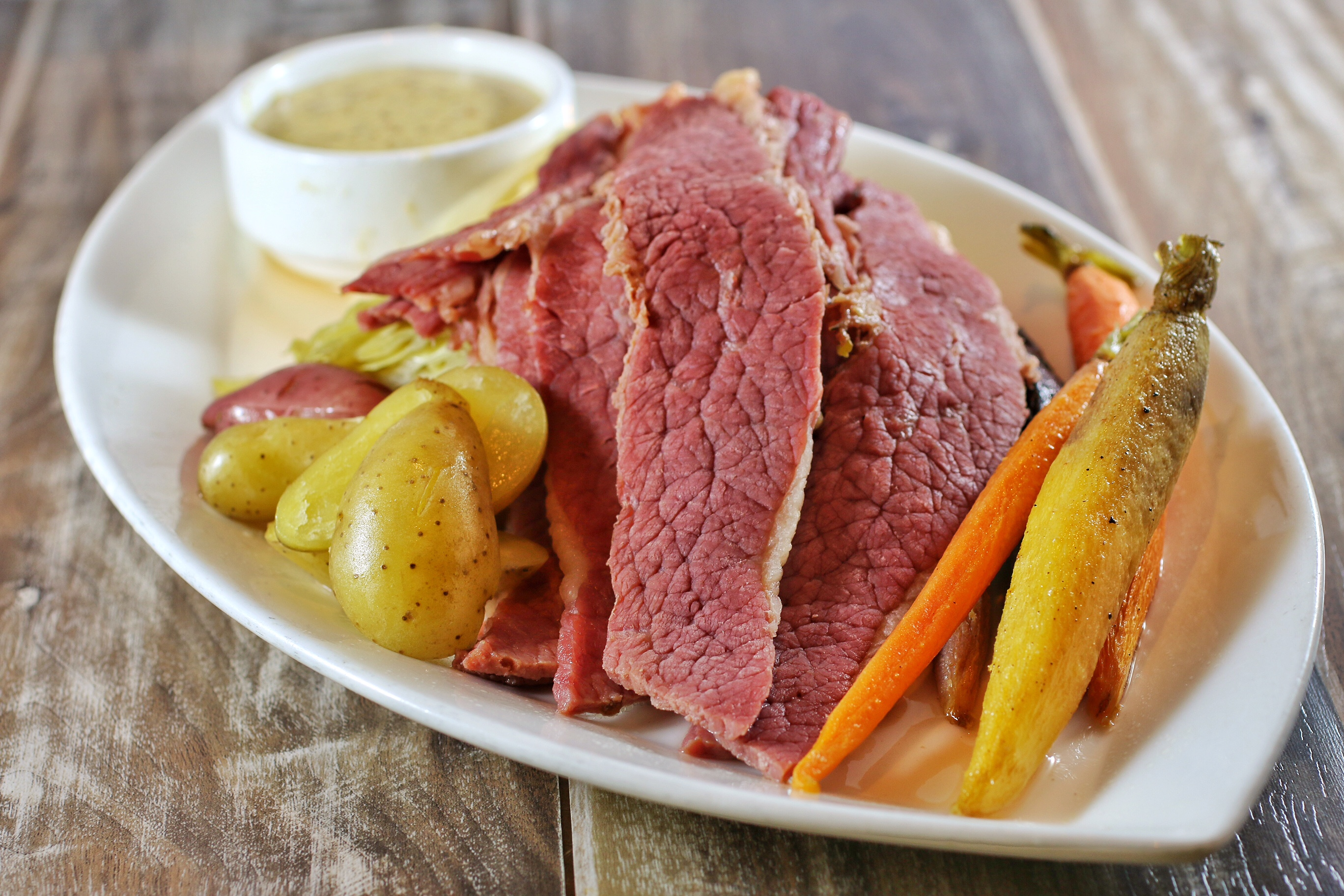 Classic corned beef & cabbage, photo courtesy of Public House.