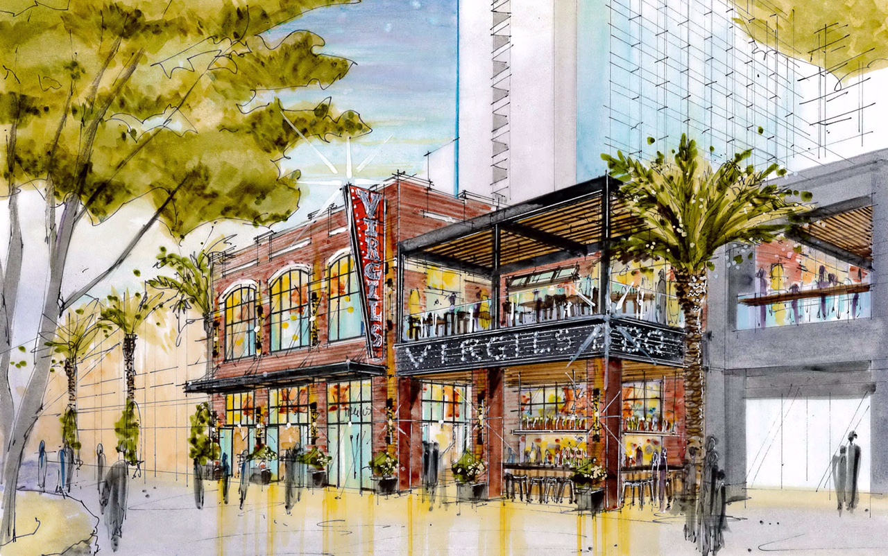 A rendering of Virgil's Real BBQ at the LINQ Promenade, photo courtesy of Caesars Entertainment.
