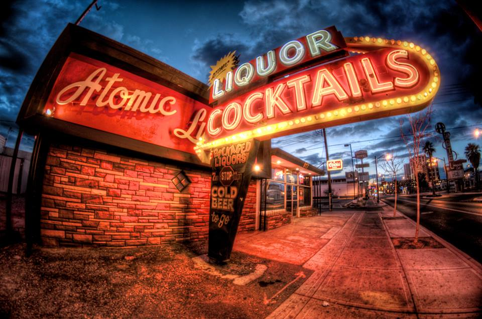 Either that's a fish eye lens or that camera is drunk. Photo courtesy of Atomic Liquors.