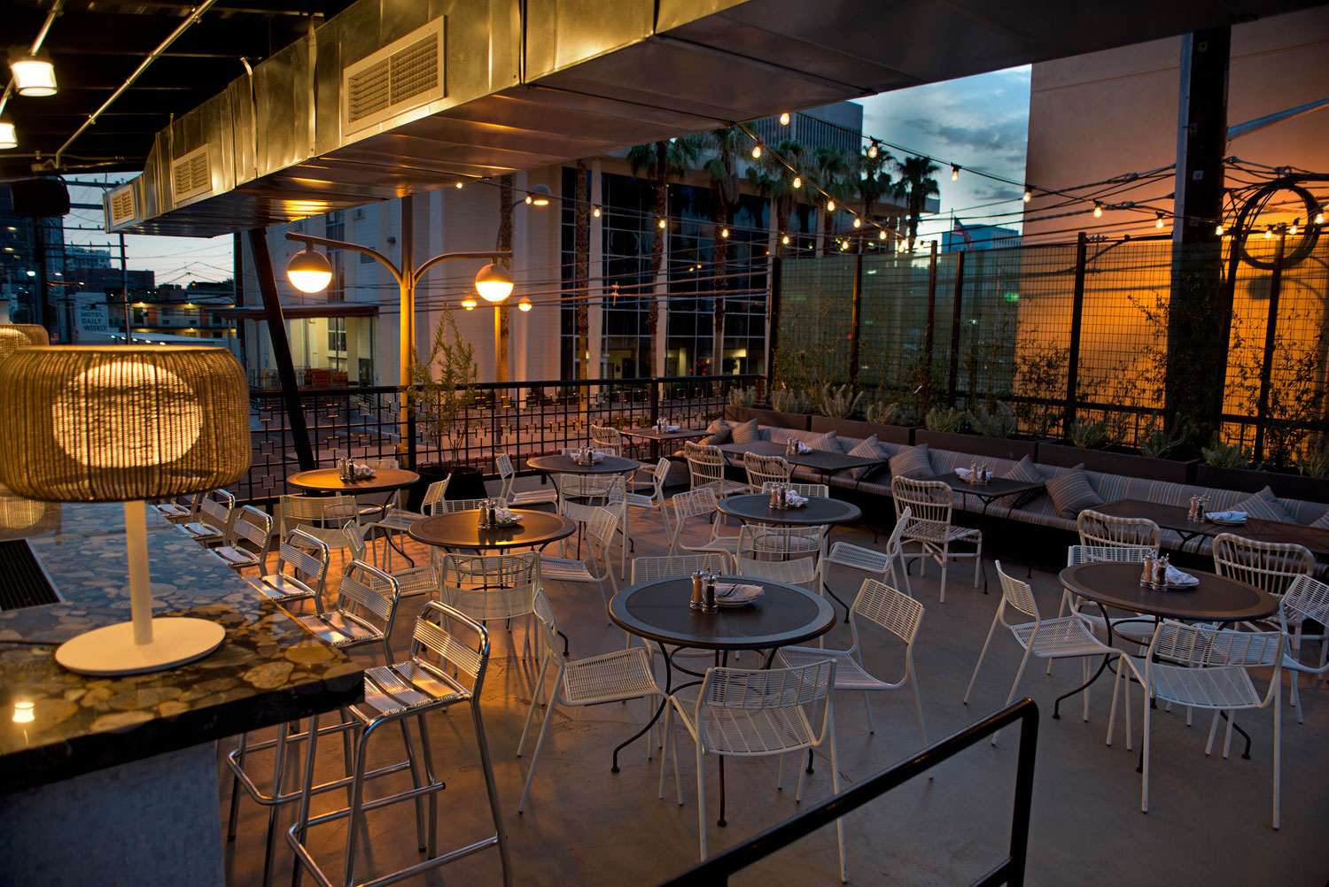 The patio upstairs at Carson Kitchen, photo courtesy of Carson Kitchen.