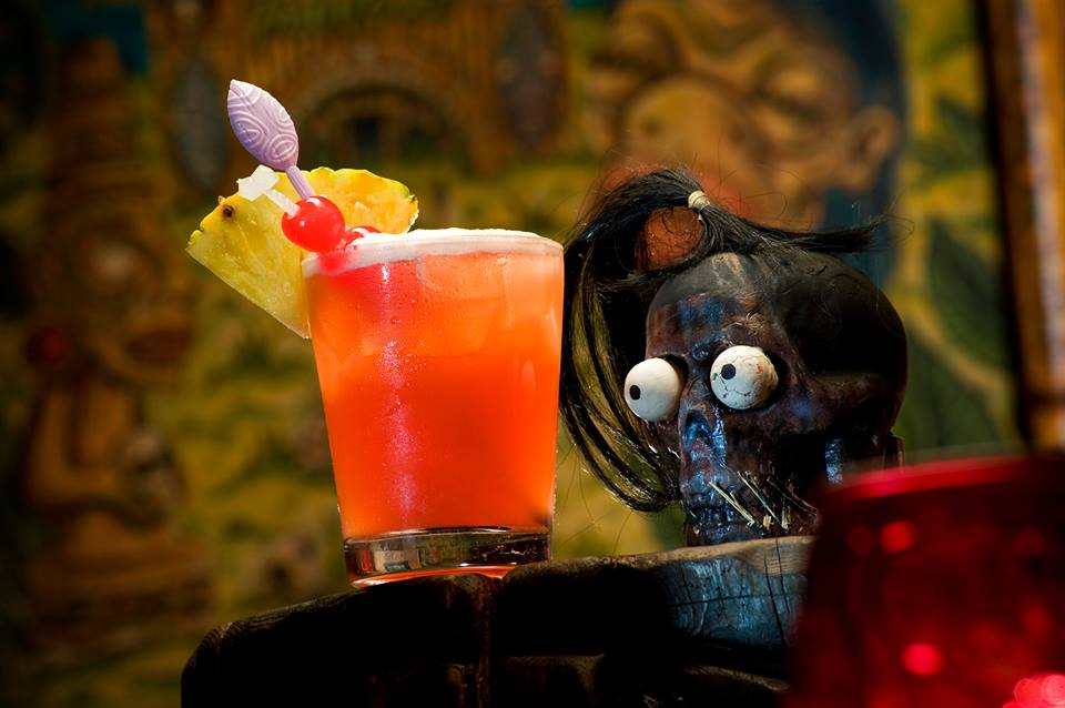 That guy had a full-sized head when he walked into the place. Photo courtesy of Frankie's Tiki Room.