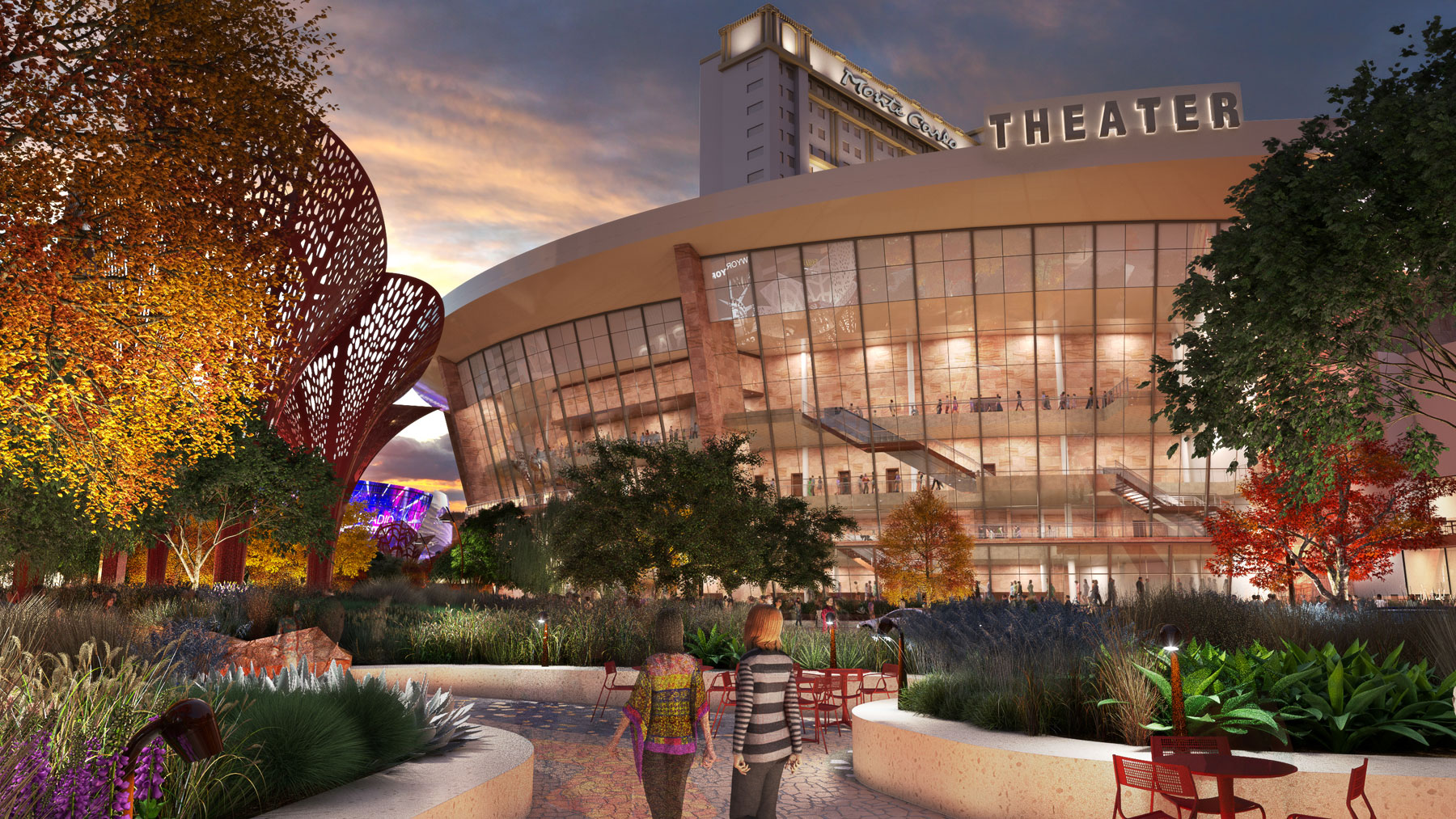 The Park will combine outdoor space with restaurants, bars and a new arena. Photo courtesy of MGM Resorts International.