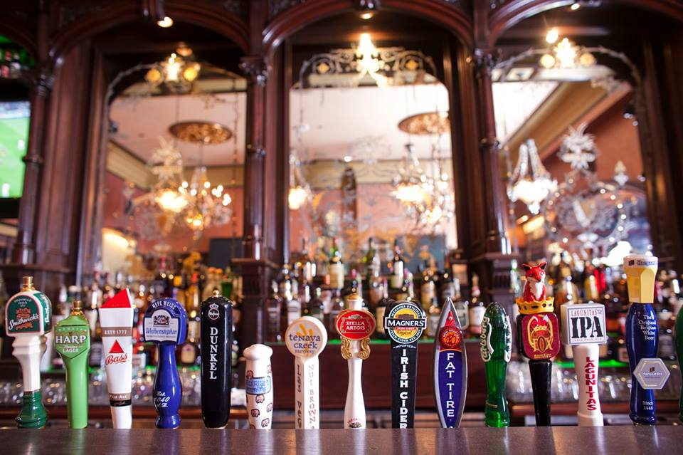 If we just lay behind the bar can you turn all those taps on for a while? Photo courtesy of Rí Rá.