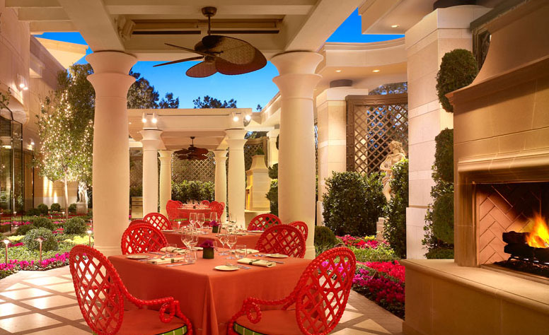 The patio at Sinatra, photo courtesy of Encore.