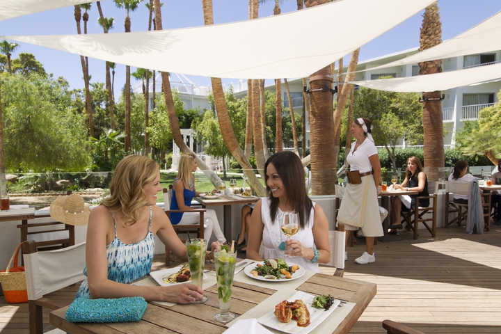 The Beach Cafe at Tropicana offers outdoor dining overlooking the pool. Photo courtesy of Tropicana.