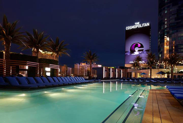 The Boulevard Pool will host Dive-In movies this summer. Photo courtesy of The Cosmopolitan of Las Vegas.