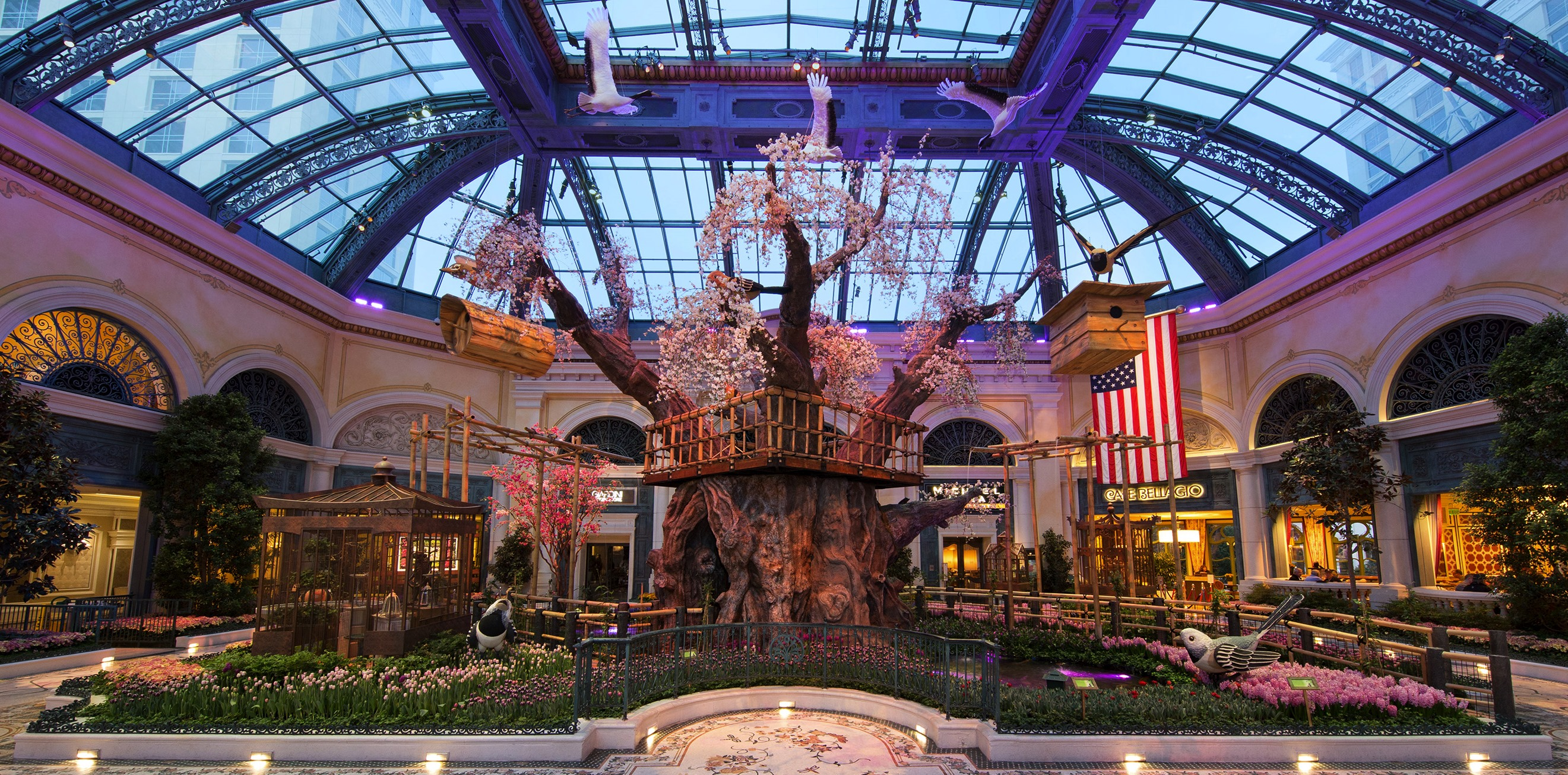 Bet you wish you had a tree house like the one at the Bellagio Conservatory.