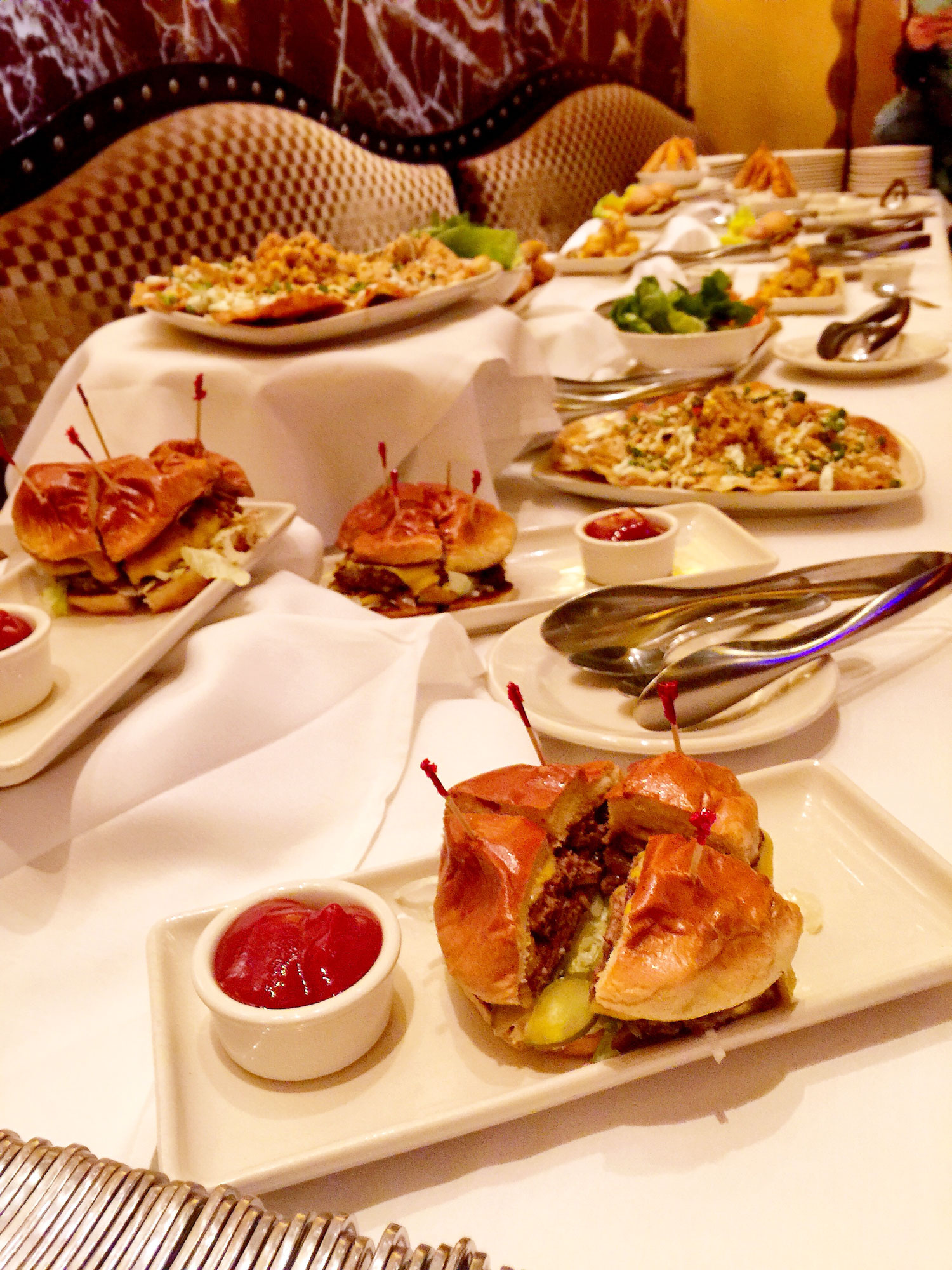 The options on the happy hour menu at Grand Lux Cafe are endless. Photo by Ashley Oñoz-Wright.