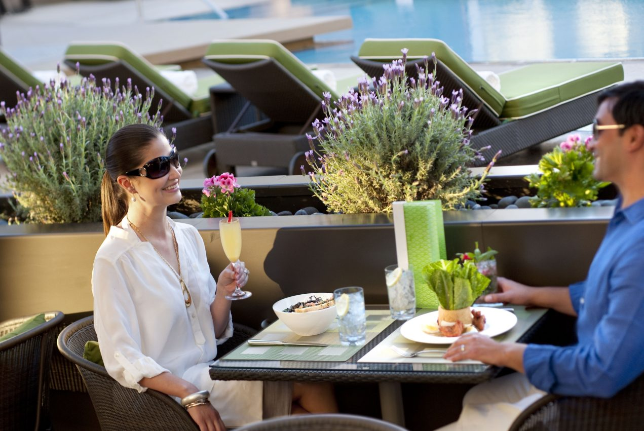The Pool Café is located on the hotel's 8th floor pool deck, photo courtesy of Mandarin Oriental.
